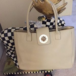 Kate spade beige leather tote